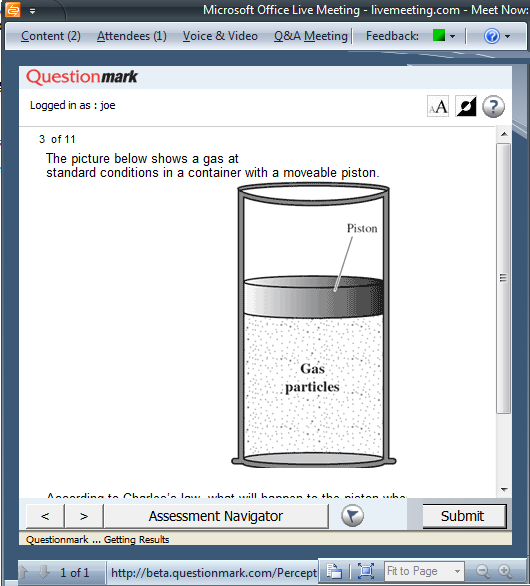 Embedding Questionmark Assessments in Live Meeting