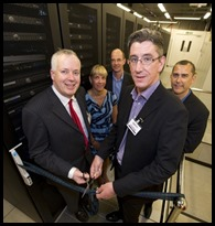 Cutting the ribbon at the Questionmark European Data Center
