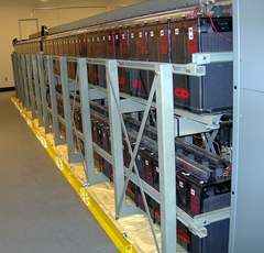 Data center batteries (picture from Wikipedia by Jelson25)